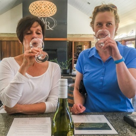 Wine Tasting at the Wairau river, Marlborough New Zealand