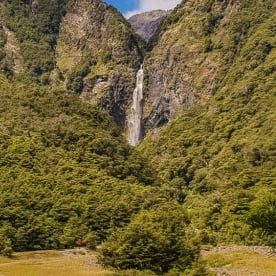 Devils Punchbowl Waterfall New Zealand