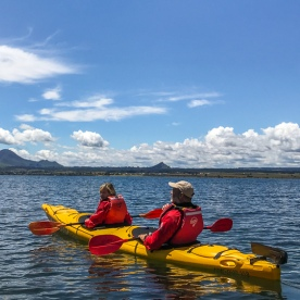 Kayak tour on Lake Taupo, Waikato New Zealand
