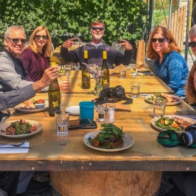 Lunch at Kinross wineyards, Gibbston Otago New Zealand
