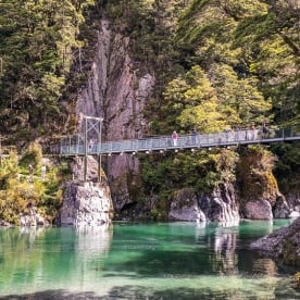 Makarora river bridge, Otago New Zealand