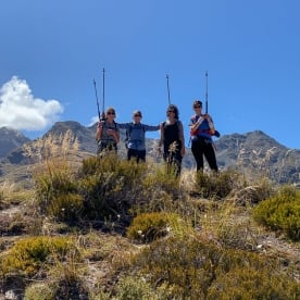 Group at the Key Summit Lookout Trail, Fiordland New Zealand