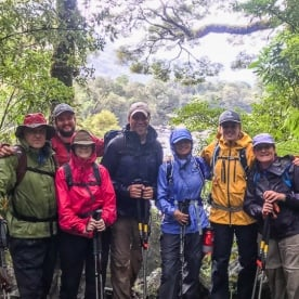 Group at Arthur River, Milford Track, Fiordland National Park Southland New Zealand