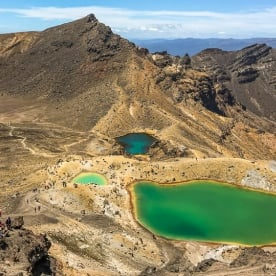 Emerald lakes at Tongariro National park,  Manawatu-Wanganui New Zealand