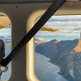 Scenic flight above Lake Wanaka, Otago New Zealand