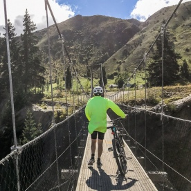 Biking Edgar Bridge, Otago New Zealand