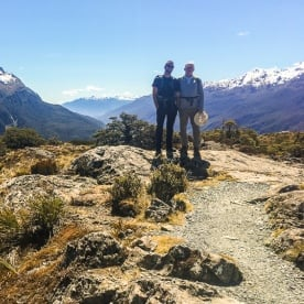 Guide and Guest at Key Summit Trail, Otago New Zealand