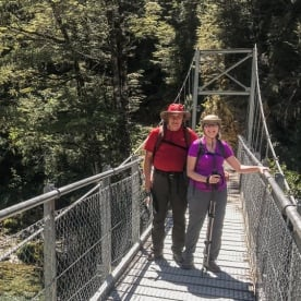 Couple at Routeburn Track, Otago New Zealand