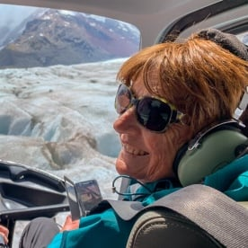 Helicopter tour above the Tasman Glacier, Canterbury New Zealand