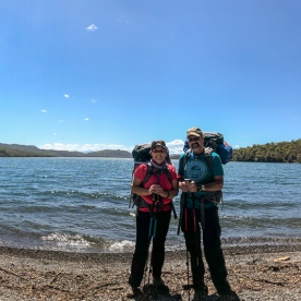 Couple at Lake Rotoiti, Tasman New Zealand