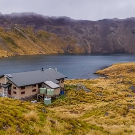 Angelus hut, Nelson Lakes National Park, Tasman New Zealand