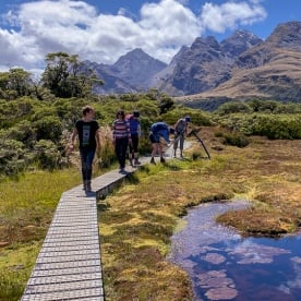 Walking the Key Summit Lookout Trail, Fiordland New Zealand