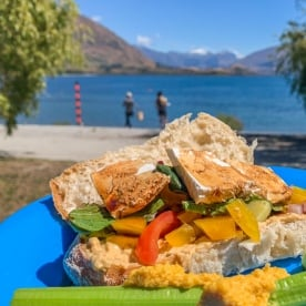 Outdoor lunch at Wanaka, Otago New Zealand
