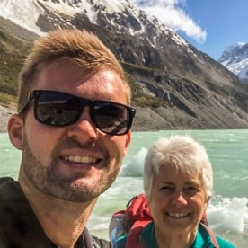 Selfie at Aoraki Mt Cook, Canterbury New Zealand