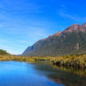 Mirror Lakes in the stunning Fiordland National Park