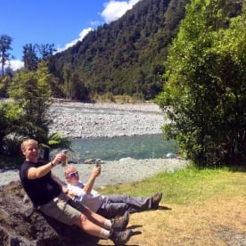 cheers at hollyford track