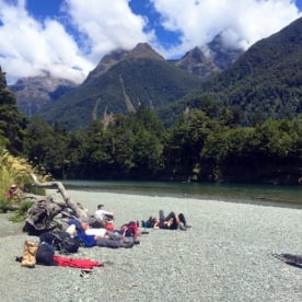 rest at hollyford track