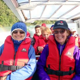 jetboating on lake mckerrow new zealand