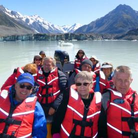 group on glacier explorers boat
