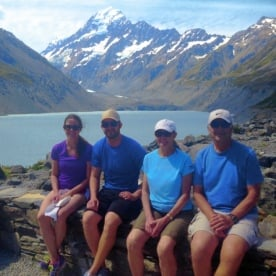 hikers at hooker lake lookout