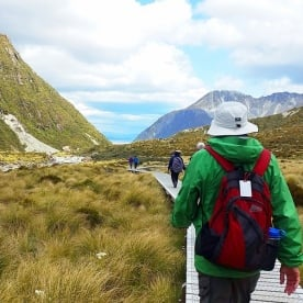 Hiking Hooker Valley