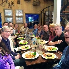 farewell dinner at mount cook