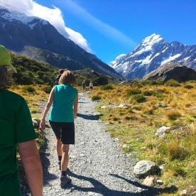 Walking the Hooker Valley in the Aoraki/Mt Cook National Park