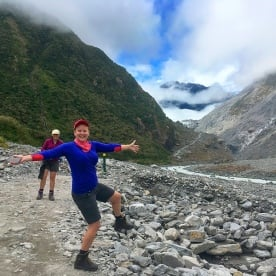 Jess being all foxy at Fox Glacier