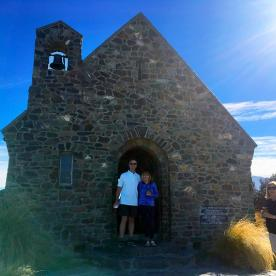 The famous Church of the Good Shepherd at Lake Tekapo