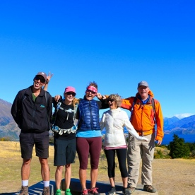 Finishing the trip with some laughs on the top of Mt Iron in Wanaka
