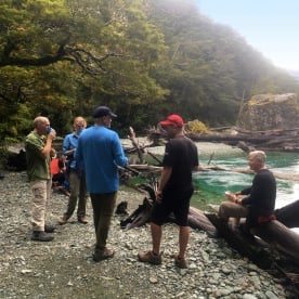 2 group routeburn track river fiordland