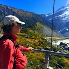 Checking out the Hooker Valley Track