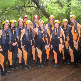 caving group at nile river new zealand