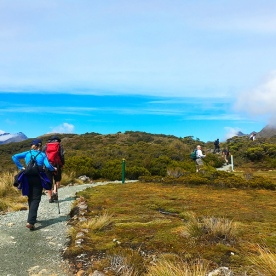 Our 'Classicers' hiking the Routeburn Track. The scenery on the tops is breathtaking