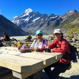It's not everyday you have cold drinks and snacks underneath New Zealand's highest peak