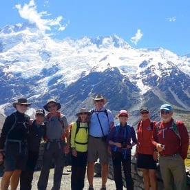 Group at Aoraki Mount Cook National Park