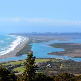 view on okarito trig lookout new zealand