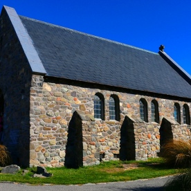 A quick photo stop at The Church of the Good Shepherd in Tekapo
