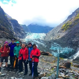 The spectacular blue ice of Fox Glacier