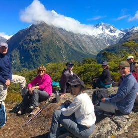 A relaxed looking bunch for lunch at the top! At Key Summit lookout