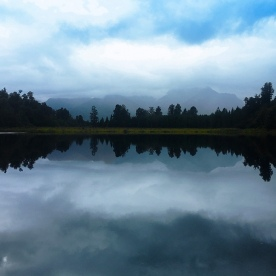 The famous reflections of Lake Matheson