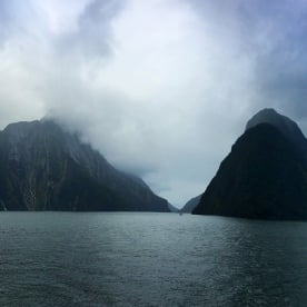 Moody morning in Milford Sound