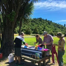 Lunch at Peel Forest close to the Rangitata River