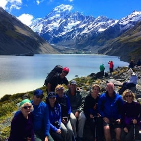 Our 'Short Southers' take a break at Hooker Lake