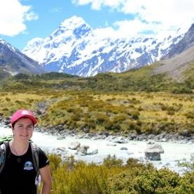 Hiker at Aoraki Mount Cook National Park