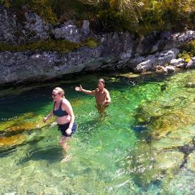 A refreshing dip! The Routeburn