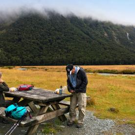 One of our favourite lunch spots - Routeburn Flats