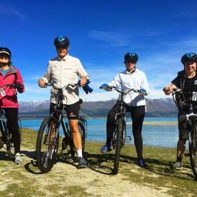 Bike ride at Lake Pukaki