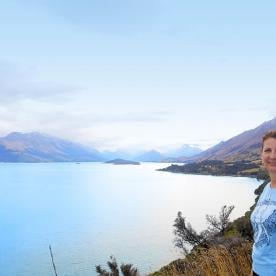 Looking towards Glenorchy from Bennets Bluff