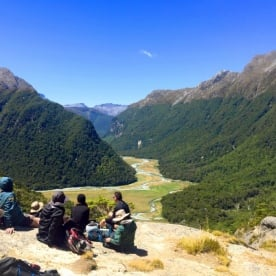 view on routeburn track valley